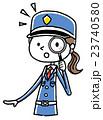 女性警備員:虫眼鏡 23740580