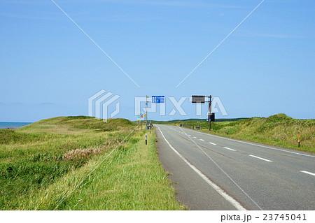 オロロンライン 稚内市のカントリーサインと道路標識 23745041