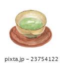 湯呑み 茶碗 茶托のイラスト 23754122