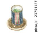 湯呑み 茶碗 茶托のイラスト 23754123