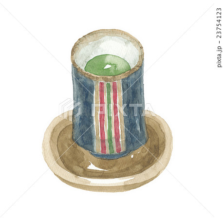 湯のみ茶碗と茶托 23754123