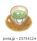 湯呑み 茶碗 茶托のイラスト 23754124