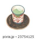 湯呑み 茶碗 茶托のイラスト 23754125