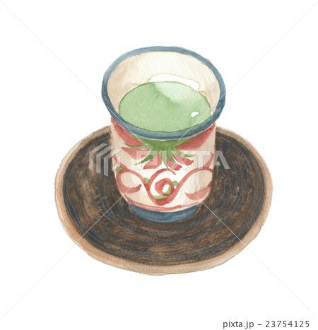 湯のみ茶碗と茶托 23754125
