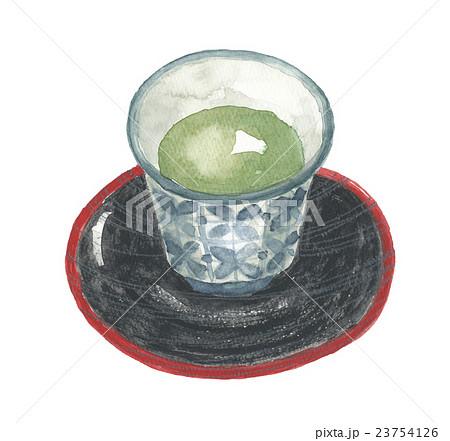 湯のみ茶碗と茶托 23754126