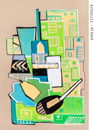 Still-life in a cubism mannerのイラスト素材 [23756028] - PIXTA