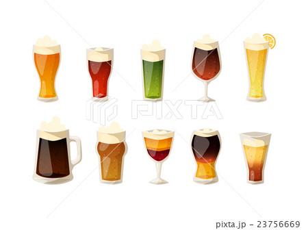 Beer vector icons set.のイラスト素材 [23756669] - PIXTA