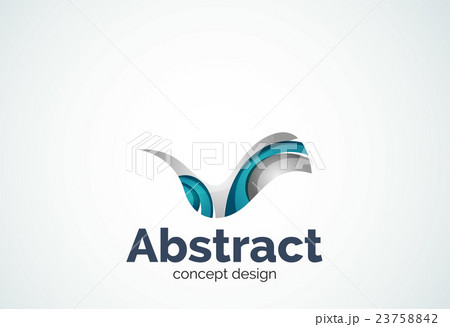 Abstract wave logo template, smooth motion conceptのイラスト素材 [23758842] - PIXTA