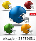 Set of American football helmet side view 23759631