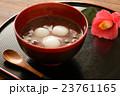 白玉ぜんざい&椿の花 23761165