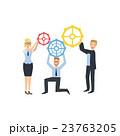 ビジネス ギアー チームワークのイラスト 23763205