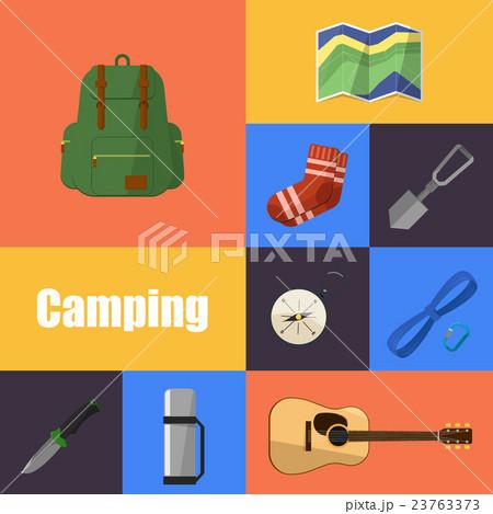 Camping equipment symbols and iconsのイラスト素材 [23763373] - PIXTA