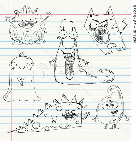Monster doodles set 1 23768526