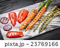 Assortment of grilled vegetables 23769166