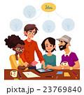 ビジネス グループ ミーティングのイラスト 23769840