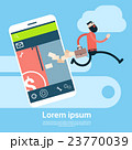 Business Man Run From Cell Smart Phone Holding 23770039