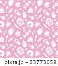スイーツ パターン ピンクのイラスト 23773059