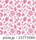 スイーツ パターン ピンクのイラスト 23773060