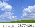 青空 雲 土手の写真 23774891