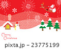 クリスマス サンタクロース クリスマスカードのイラスト 23775199