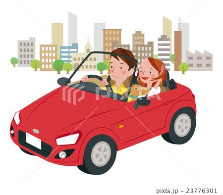 ドライブ中の男女 23776301
