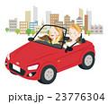 ドライブ カップル オープンカーのイラスト 23776304