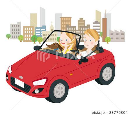 ドライブ中の男女 23776304