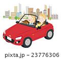 ドライブ 夫婦 オープンカーのイラスト 23776306