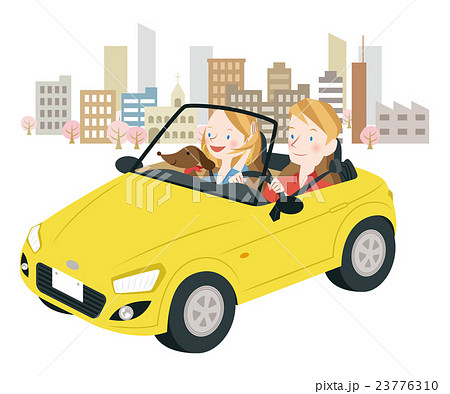 ドライブ中の男女 23776310