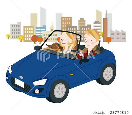 ドライブ中の男女 23776316