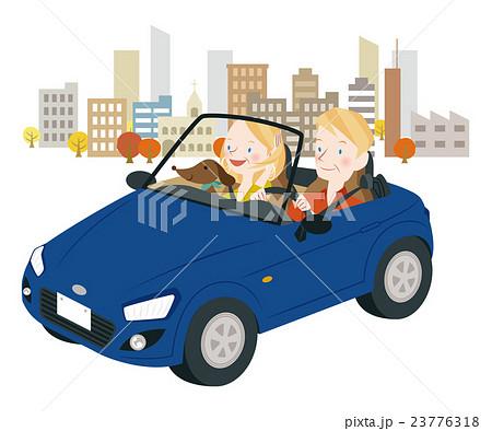 ドライブ中の男女 23776318