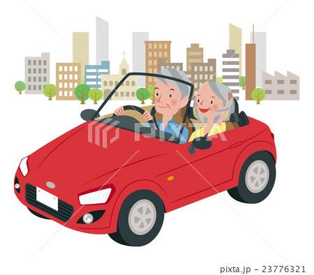 ドライブ中の男女 23776321