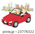 ドライブ カップル オープンカーのイラスト 23776322
