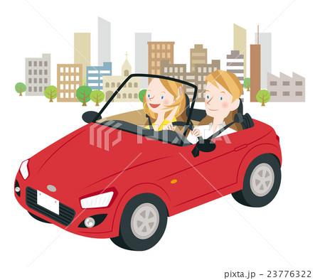 ドライブ中の男女 23776322