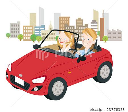 ドライブ中の男女 23776323