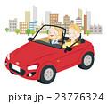 ドライブ 夫婦 オープンカーのイラスト 23776324