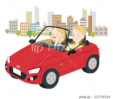 ドライブ中の男女 23776324
