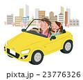 ドライブ 春 夫婦のイラスト 23776326