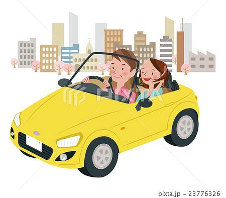 ドライブ中の男女 23776326