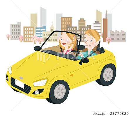 ドライブ中の男女 23776329