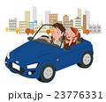 ドライブ中の男女 23776331