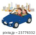 ドライブ 秋 夫婦のイラスト 23776332