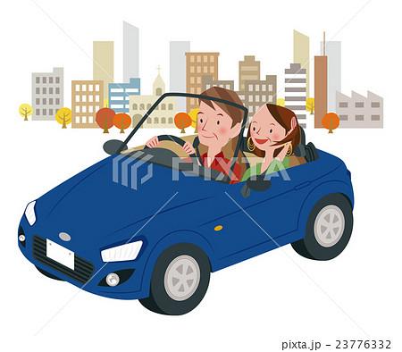 ドライブ中の男女 23776332