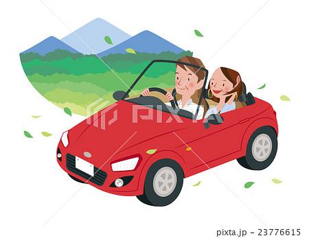 ドライブ中の男女 23776615