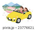 ドライブ 春 夫婦のイラスト 23776621