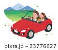 ドライブ 夫婦 オープンカーのイラスト 23776627