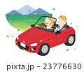 ドライブ 夫婦 オープンカーのイラスト 23776630