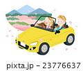 ドライブ 春 夫婦のイラスト 23776637