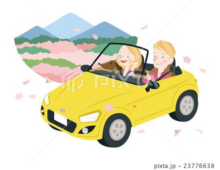 ドライブ中の男女 23776638
