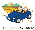 ドライブ 紅葉 カップルのイラスト 23776642